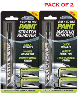 2 X CAR SCRATCH REMOVER TOUCH UP MAGIC PEN FOR ANY COLOUR CAR PAINTWORK REPAIR