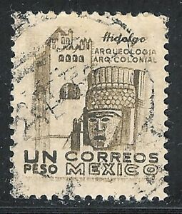 pa009a Mexico Arquite used paper 1; Sc#864 Mc#975 Et#aa009a, pencil note on back