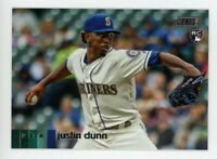 2020 Topps Stadium Club #175 JUSTIN DUNN Seattle Mariners PHOTO Rookie Card RC