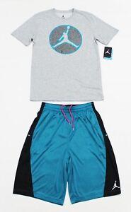 NWT OG JORDAN RETRO XIII 13 Tropical Teal Matching Set Shorts T-Shirt Tee MEDIUM