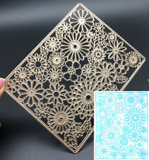 Rectangle Sunflower Metal Cutting Dies Stencil Scrapbooking Card Embossing Craft