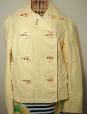 Old Navy Yellow Double Breasted Cotton Jacket Womens M