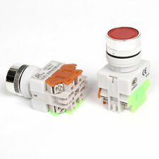 2 PCS Red 22mm STOP/START No Lamp Push Button Switch 660V 10 AMP