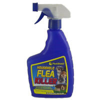 2 x Pestshield Household Flea Killer Spray Animal Bed Dog Cat Tick NEW 500ML UK