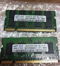 RAM 2x3GB DDR2 Samsung 2Rx8 PC2-6400S-666-12-E3 per portatili. M470T5663QZ3 -CE6