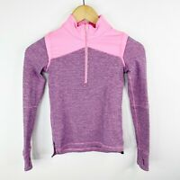 Ivivva by Lululemon Girls Size 8 Alpine Zip Pullover Pink 1/2 Zip Long Sleeve