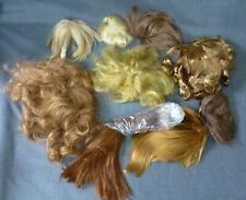 8 OLD WIGS FOR ANTIQUE DOLLS, REPAIR & SPARES, WIG BUNDLE
