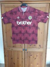 Manchester City Football Shirt Original Umbro Brother 1990 - 92 Away Large Mens