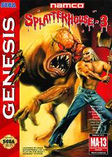SPLATTERHOUSE 3 locale GENESIS incorniciato stampa (foto poster Arte di gioco arcade)