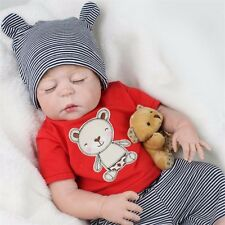 "Full Body Silicone Reborn Sleeping Boy 22"" Doll Soft Lifelike Baby Sleeping Boy"