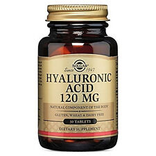 Solgar Hyaluronic Acid Tablets, 120 mg, 30 Count. Fresh Direct Manufacture