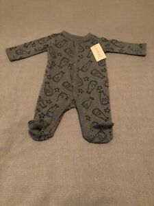 First Impressions Cotton Body Suit Gray Infant Baby Boy Newborn New With Tags