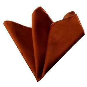 Celino Orange Pocket Square for Men Silk Handkerchiefs for Suits Made in Europe