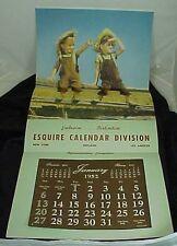 1952 Esquire Calendar Division Salesman Sample Calendar Two Boys On A Fence CUTE