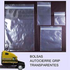 TOP* 100 BOLSAS (4,5x11) AUTOCIERRE GRIP TRANSPARENTES BOLSAS TRANSPARENTES
