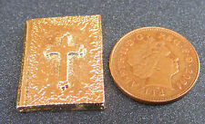 1:12 Scale Metal Non Opening Bible Dolls House Miniature Church Accessory G