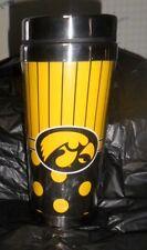 New NCAA University of Iowa Hawkeyes Beverage Polka Dot Travel Mug 14 oz.