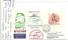 1958. Budapest a Alemania. Sobre con sello de 1Ft de Hungria, viñeta con avión