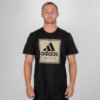 adidas Roots T Shirt Mens Gents Crew Neck Tee Top Cotton Black Uk Medium