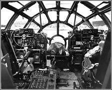 """Poster Print: 24"""" x 30"""": Inside The Cockpit Of A Boeing B-29 Superfortress"""