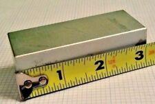 (2) Large NEODYMIUM block MAGNET! N50 grade rare earth magnet. New SUPER magnet!