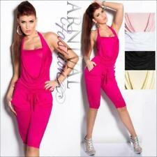 Regular Size Viscose Solid Jumpsuits, Rompers & Playsuits for Women