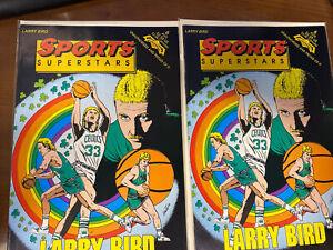 2 1992 SPORTS SUPERSTARS COMIC LARRY BIRD NBA Revolutionary Comics