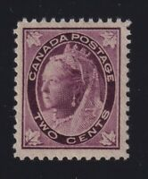 Canada Sc #68 (1897) 2c purple Maple Leaf Mint VF NH MNH