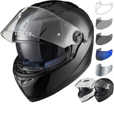 Agrius Rage SV Solid Motorcycle Helmet M Gloss White