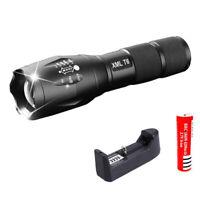 Torcia a LED ricaricabile XML T6 Lanterna a torcia 4000 lumen 18650 Batteri H2F1