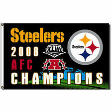 Steelers AFC Champions Flag and Banner