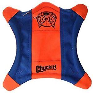 ChuckIt! Flying Squirrel Spinning Dog Toy, (Orange/Blue), Multicolor, Medium (10