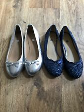 John Lewis Girls Bow Pump Shoes X2 Size 4