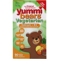 Yummi Bears Vegetarian, Calcium + D3, 90 Gummy Bears