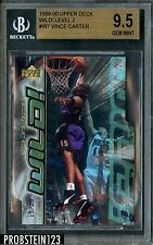 1999-00 Upper Deck Wild Level 2 Vince Carter 15/25 JSY# BGS 9.5 GEM MINT