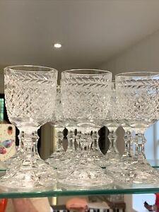 Set of 6 Quality Vintage Cut Lead Crystal Port / Sherry Glasses