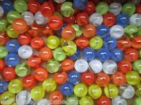 """MARBLES BULK LOT 2 POUNDS 9/16"""" MIXED CATS EYE MARBLE KING MARBLES FREE SHIPPING"""