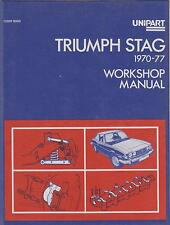 TRIUMPH STAG MK1 MK2 MANUAL AUTO 1970-76 ORIGINAL UNIPART OWNERS WORKSHOP MANUAL