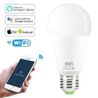 Dimmable 15W E27 WiFi Smart Light Bulb LED Operate Alexa Google Home Assistant