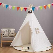 Cotton Children Indian Tent Teepee Play Sleeping Playhouse Indoor Outdoor Dome