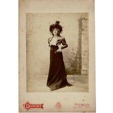 Georgette LEBLANC – Bruxelles entre 1891 et 1900 - studio bruxellois d'Aimé D...