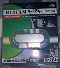 Fujifilm de alta velocidad USB 2.0 Lector de Tarjetas & Hub de 3 puertos (externo) + PSU SD, MMC, XD
