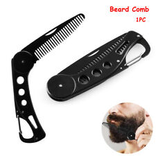 Men Beauty Foldable Hairdressing Styling  Hair Mustaches Brush Beard Comb
