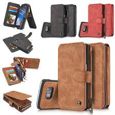 iPhone X Multifunktion Leder Cover Handy Tasche Schutz Hülle Wallet Case DECC