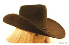 "BROWN Western COWBOY DOLL HAT fits 18"" AMERICAN GIRL Doll Clothes Accessory"