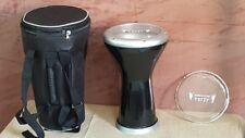 """Gawharet El Fan  New Doumbek 17.5"""" Black Black  Darbuka Professional Drum D15"""
