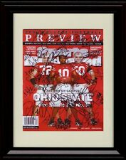 Framed Ohio State Buckeyes Sports Illustrated Auto Replica Print - Team Signed