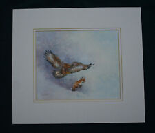 """""""Out Foxed """" Original painting of Golden Eagle chasing a Fox."""