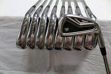 Used RH TaylorMade R9 TP Iron Set 3-AW KBS Tour Steel Stiff Flex S-Flex