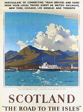 ART PRINT POSTER VIAGGIO Pubblicità Scozia Isles lochalsh Stornoway Mail nofl1077